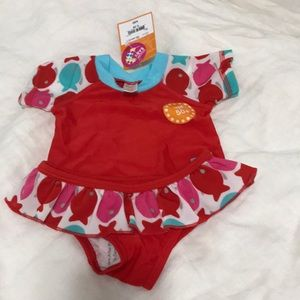 Other - NWT Baby 2-piece swimsuit, UPF 50, 3-6mo